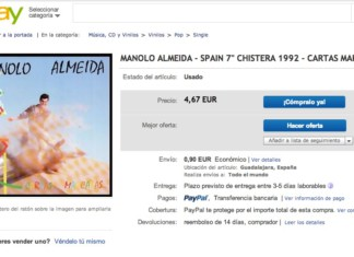 Mi single 'Cartas Marcadas', en eBay