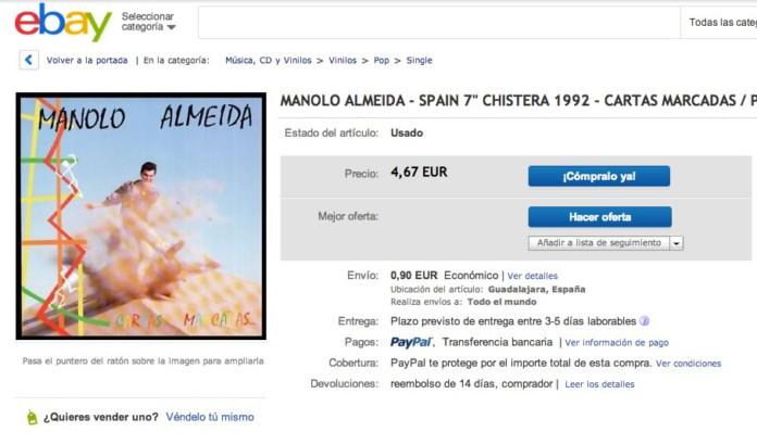 Mi single 'Cartas Marcadas', en eBay
