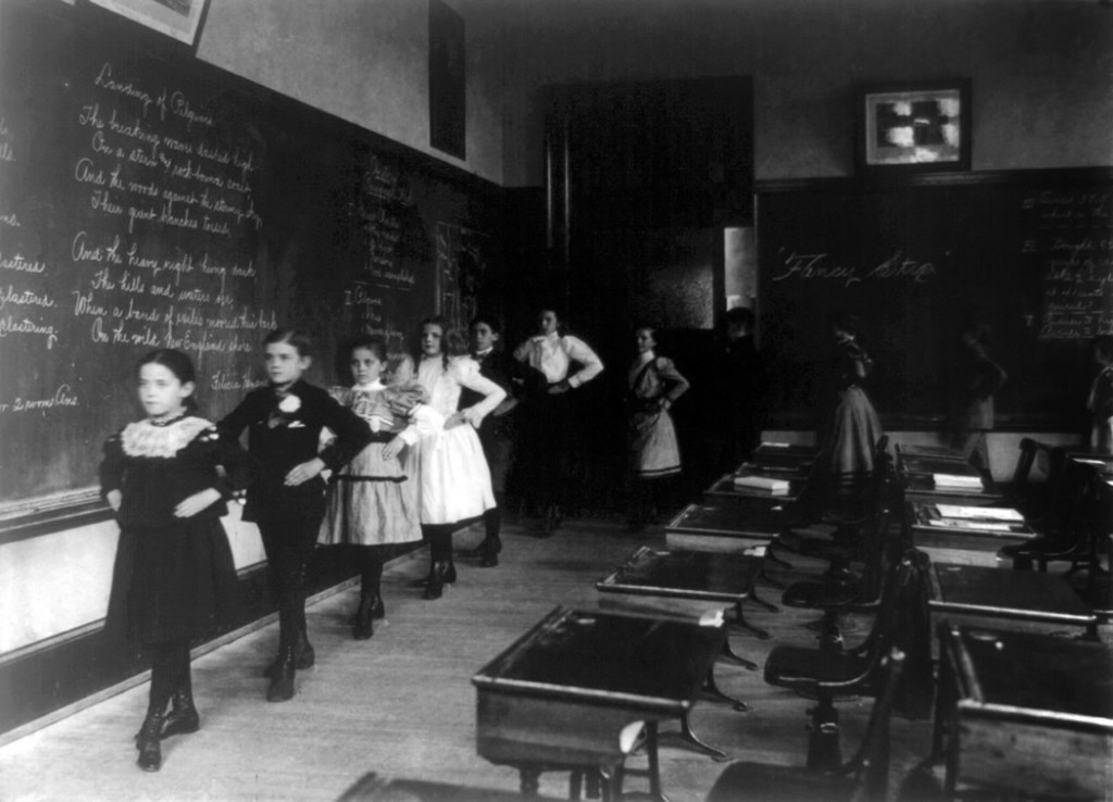 White school children, de Frances Benjamin Johnston